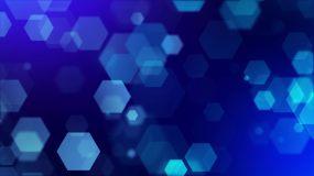 4K蓝色菱形粒子科技感背景视频素材