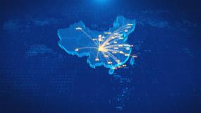 四川成都辐射全国地图AE模板