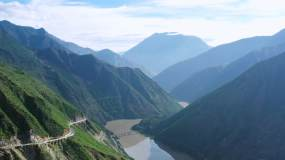 4K大气航拍大山大河视频素材