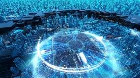 科技中心城市片头发布AE模板