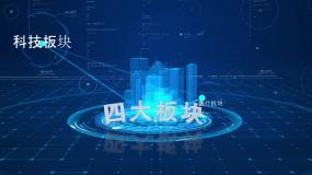 HUD科技信息架构分类AE模板