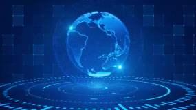 4K科技地球光影循环视频素材