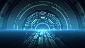 7组蓝色可循环商务科技背景素材视频素材