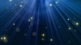 星光夜空光束粒子萤火虫舞台背景视频素材