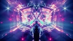 神秘感穿梭蒸汽波紫蓝色VJDJ背景视频素材