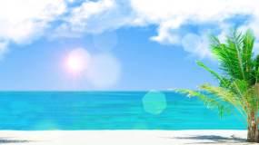 4K美丽海滩场景循环视频素材