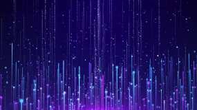 4K线条粒子舞台循环视频素材