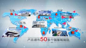 三维简洁商务三款世界地图AE模板