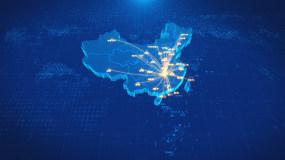 湖南长沙辐射全国地图AE模板