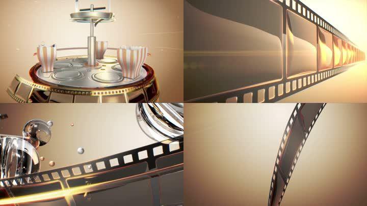 《看电影吧》电视包装片头C4D+AE工程