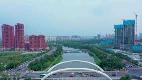 4K西安灞桥区航拍视频素材