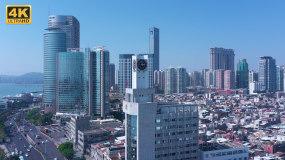 4K航拍中国厦门海关缉私局大楼视频素材包