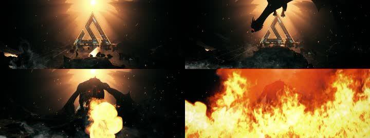 龙恶龙喷火可换LOGO神龙火龙