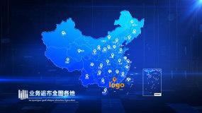 地图辐射地图连线业务范围全球业务AE模板