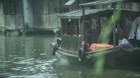 江南小镇划船视频素材