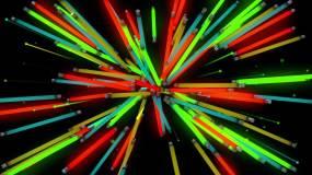 红蓝蓝霓虹灯管旋转舞台背景视频素材