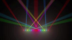4K七彩变色射灯动感灯光秀视频素材
