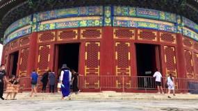 天坛祈年殿延时拍摄天坛公园北京名胜古迹视频素材