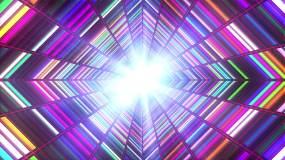 霓虹彩虹像素隧道背景视频素材