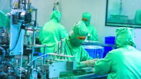 4K口罩生产疫情实拍素材视频素材
