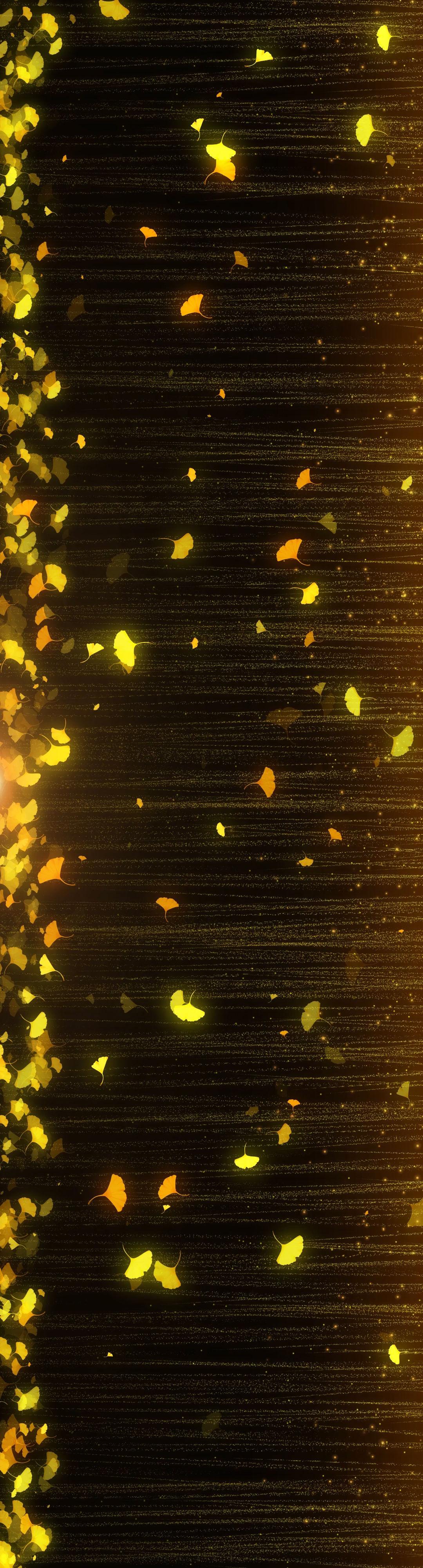 【宽屏】瀑布银杏叶-3