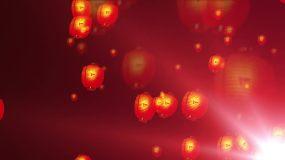 孔明灯晚会LED彩幕视频素材