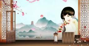 中国风古风舞台背景9视频素材