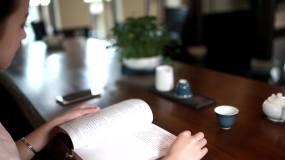 优雅女士美女看书视频素材包
