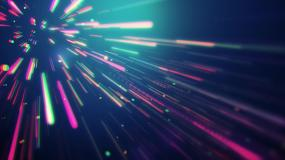 4K霓虹彩色卡通线条穿梭视频素材