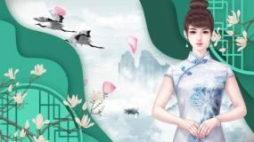 中国风古风舞台背景10视频素材