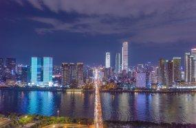 长沙市中心夜景视频素材
