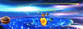 4K光影星空梦幻太空太阳系视频素材