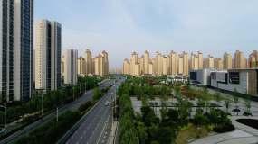 航拍城市高楼林立都市风光视频素材