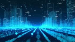 科技数字粒子城市视频素材