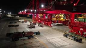 4K原素材-洋山深水港全自动集装箱码头视频素材