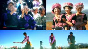 云南文山苗族花山节芦笙舞少女微笑视频素材