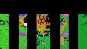 酷炫彩色色彩颜色涂鸦涂料水墨说唱嘻哈视频素材