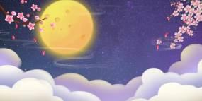 中秋节LED舞台背景视频素材