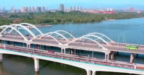 广运潭西安灞桥西安浐灞西安地铁视频素材
