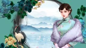 中国风古风舞台背景11视频素材