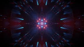 4k震撼炫酷粒子放射背景led视频视频素材