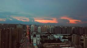 航拍西安城市立交桥城市建设风光高清视频素材