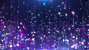 4K抒情舞台粒子循环视频素材