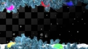 圣诞节彩球视频素材包