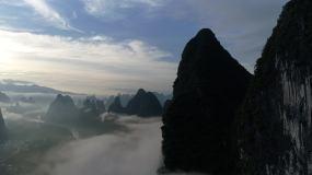航拍相公山云海视频素材