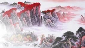 中国风水墨山水视频素材