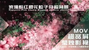 【大屏】浪漫粉红樱花粒子穿梭背景视频素材