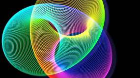色彩圆环渐变光圈带通道视频素材