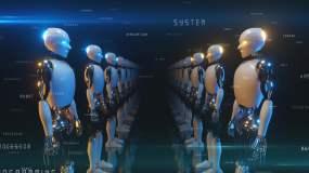 机器人数据隧道穿梭视频素材