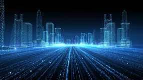 【原创4k】科技感粒子穿梭城市AE模板AE模板